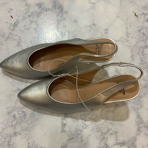 NWT A New Day sliver heels